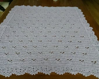 Very Soft Crocheted Baby Blanket found at Softatheart