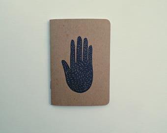 Hand art notebook, Starry night journal, Daily notebook, Dream journal, Cute notebook, Little gifts, Writer gift Writing journal, Hand print