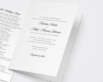 Wedding Ceremony Program Templates, Catholic Ceremony Program, Catholic Wedding Program, Catholic Program Template, Simple Wedding Program