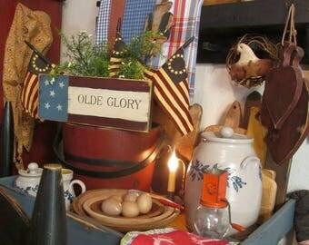 Olde Glory patriotic Americana sign