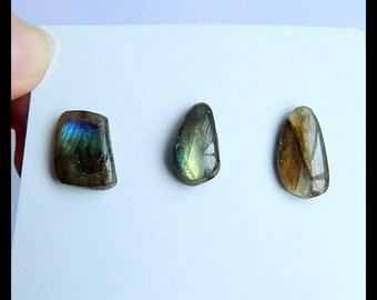 SALE,3 PCS Labradorite Freeform Gemstone Cabochons,Beautiful Cabochon,11.25g