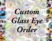 10 custom pairs of brown cataract eyes