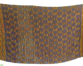 Kente Cloth Asante Ghana Large 120 x 82 Inch African Art 54099