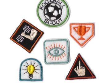 Football Scout merit badges - embroidered