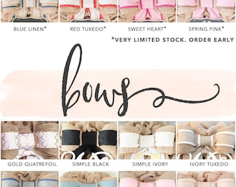 Interchangeable Bow™ - Removable, Interchangeable with Burlap Wreaths, Initials, Monograms, and Chalkboards