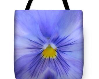 Purple Pansy Tote Bag, Patrushka Flower Totes, Grocery Tote Bag, Flower Tote Bag, Summer Tote Bag, Beach Tote Bag, FREE SHIPPING USA