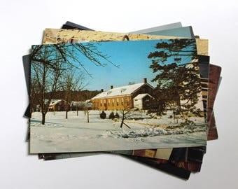 10 Vintage Amana Iowa Chrome Postcards Blank - Wedding Guestbook