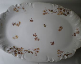 Vintage Brown Transferware Platter Brown and White Haviland Limogues France