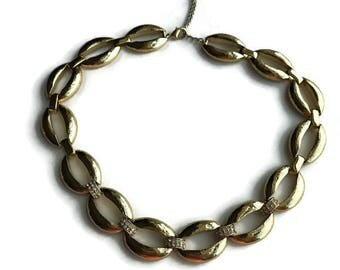 Vintage Monet Gold Tone Statement Necklace