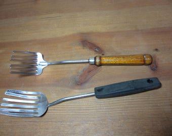 Vintage Foley Granny Fork, Cooking Fork, Kitchen Utensil, Wooden Handle