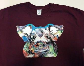 Paint Splatter Pig Shirt