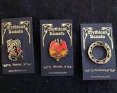 Mythical Beasts Enamel Pins