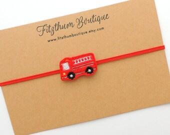Fire truck hair bow - Fire truck bow - Firefighter baby shower - Fire truck headband, Fireman bow - Firefighter baby shower gift