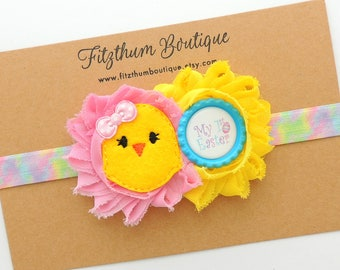 First Easter headband - Baby girl first Easter headband - Newborn headband - Infant headband - Easter headband - Easter outfit  accessories