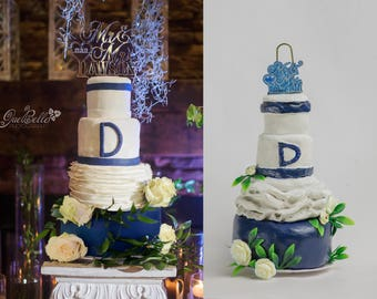Custom Wedding Cake Ornament, handmade--Basic Cake Designs
