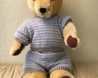 "Dean's Bear Teddy Bear 1980's Vintage English made Fully jointed golden mohair plush 18""."