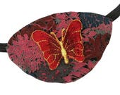 Eye Patch Butterfly Lush Red Cosplay Fashion Fantasy Floral Eyepatch