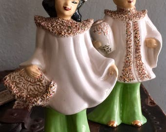 Set of two Vintage  Asian figurines