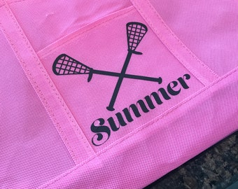 Personalized Tote Bag - Lacrosse