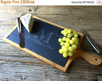 Valentines Sale 15% OFF - Rustic Farmhouse: Slate Cheese Board, Cheese Tray, House Gift, Housewarming Gift, Wedding Gift, Wine and Cheese