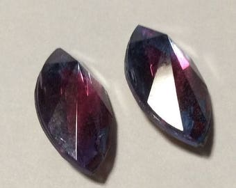 SPECIAL Vintage Cuba Sapphire/Amethyst Navettes 18x9mm QTY - 2 VERY Rare