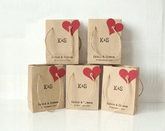 Wedding favour bags mini paper bags brown paper bags sweets gift wrap chocolate box party bags personalized favours