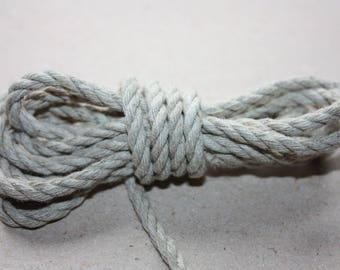 4 mm Linen Rope = 13 Yards = 11.88 Meter of Natural Linen Cord - Natural Color - Organic Natural Fiber Cord - Decorative Rope