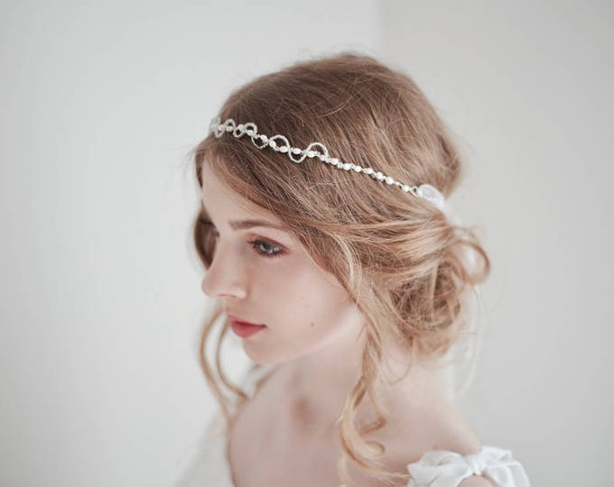Pearl Hair Vine, Pearl Headband, Bridal Headband, Pearl Head Piece, Pearl Headpiece, Wedding Headpiece, Thin Pearl Headband