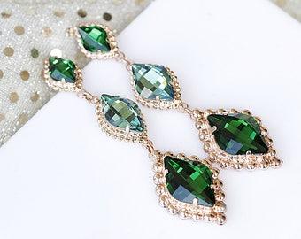 Emerald rose gold | Etsy