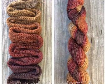 Yak Sock Yarn, Gradient Yarn, Hand Dyed Yarn