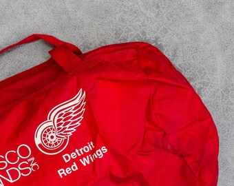 Vintage Detroit Redwings Duffel Bag Red Gym Bag Nabisco Brands B 7VV