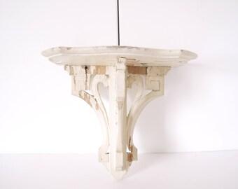 French shelf shabby chic shelf corbel white chippy sculpted
