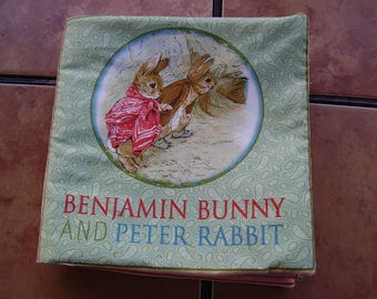 Benjamin Bunny and Peter Rabbit Quiet Soft Cloth Baby Toddler Story Book Handmade Ready to Read