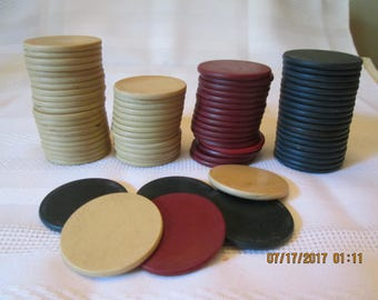 Vintage Clay Poker Chips, Poker Chips, Game Chips, Gambling Chips,