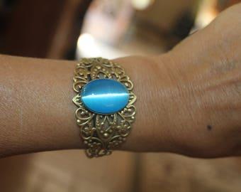 cuff bracelet, adjustable bracelet, cat's eye, evil eye bracelet, adjustable cuff, metal cuff, metal bracelet, boho bracelet, boho jewelry