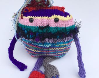 Knelly the Scraponster Monster / Knit Monster