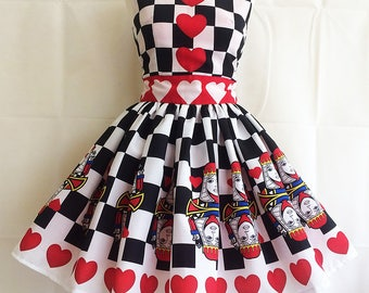 Queen Of Hearts Dress, Costume, Dressing Up, Cosplay, Queen Of Hearts Costume By Rooby Lane