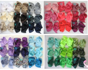 """Bundle of Extra Large Hair Bows, Huge Hair Bow, 6"""" 6 inch hair bows, big bow, hair bow bundles, jumbo hair bows, hair bows for girls baby xl"""
