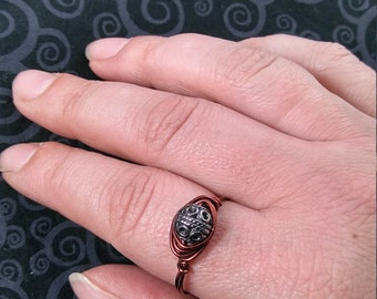 Antique Copper Wire Wrapped Ring