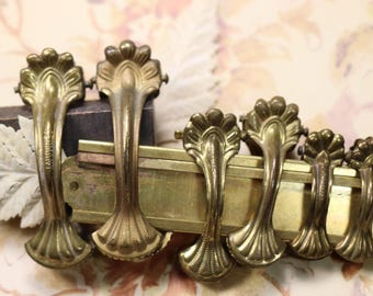 1 Antique Victorian Brass Clip - 3 Sizes to Choose From