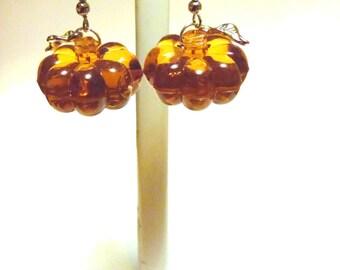 Pumpkin Earrings Halloween Jewelry Orange Fall