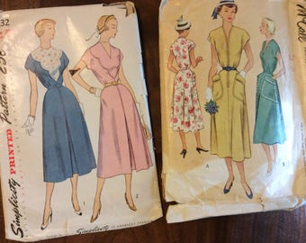 Vintage dress patterns from 1940's
