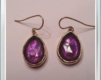 Rose Cut Amethyst Earrings