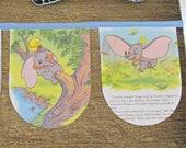 Dumbo Bunting Banner Elephant Disney Blue Children Party Decor Wall Hanging. Little Golden Book Domum Vindemia Garland Birthday Baby Shower