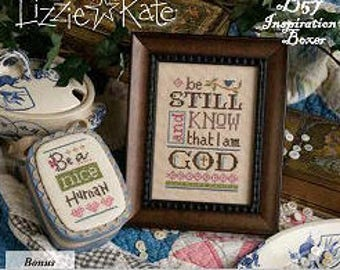 NEW Be Still Inspiration Boxer Kit INCLUDES fabric embellishments by Lizzie Kate at thecottageneedle.com smalls