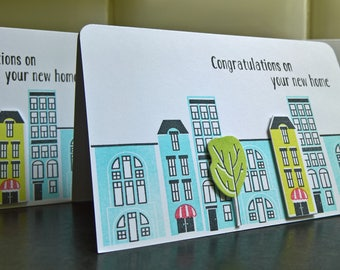 Congratulations on your New Home Card, New Homeowners Card, Housewarming Card, New Apartment Card