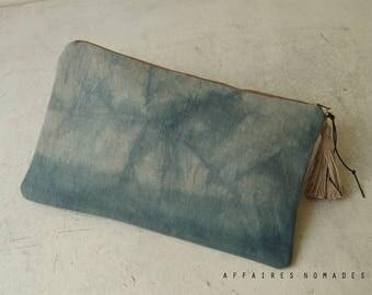 Linen Pouch. Bag divider. passport ticket organizer. cosmetic pouch. wallet linen purse. Clutch bag. Bag in bag.