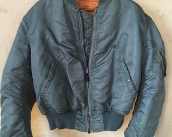 Vintage Alpha Industries MA 1 Flight jacket reversible USA xl