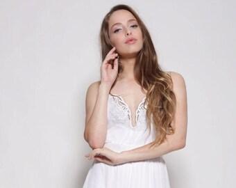 Boho wedding dress, strapless wedding dress, embroidery collar, open back wedding dress