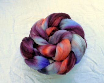 Hand dyed Targhee combed top, 4 ounces